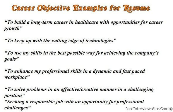 sample career objectives examples for resumes resume one term job clear headline your Resume Resume For One Long Term Job