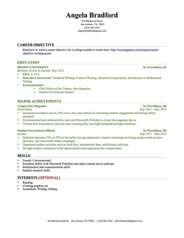 sample college resume with no work experience professional templates student template Resume Sample Resume Education Experience