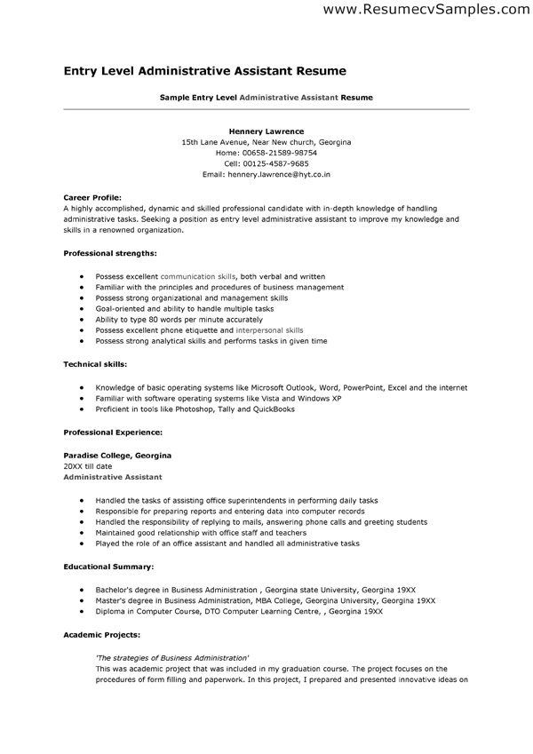sample entry level medical assistant resume templates administrative and clerical cover Resume Resume Objective For Medical Assistant Student