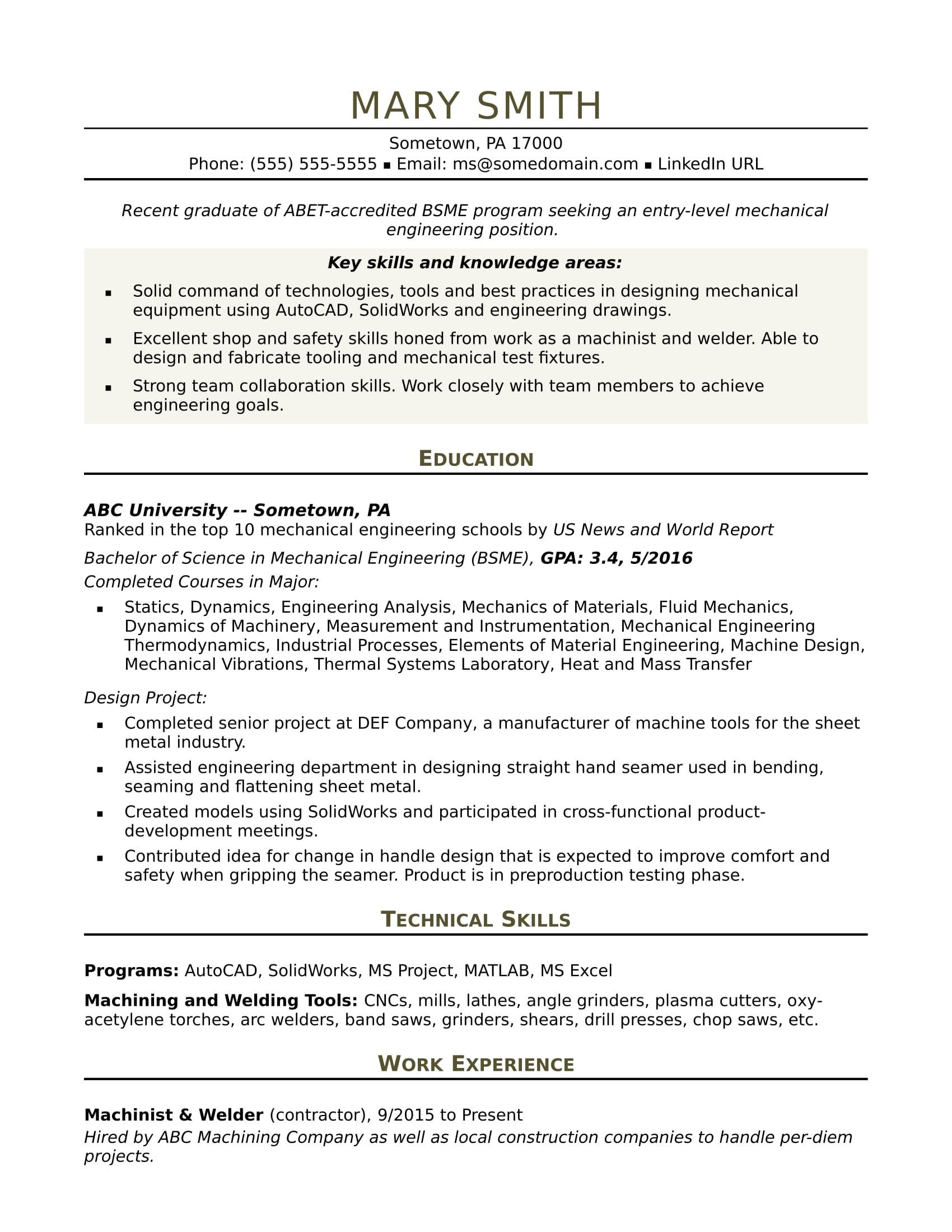 sample resume for an entry level mechanical engineer engineering templates rf different Resume Entry Level Rf Engineer Resume Sample