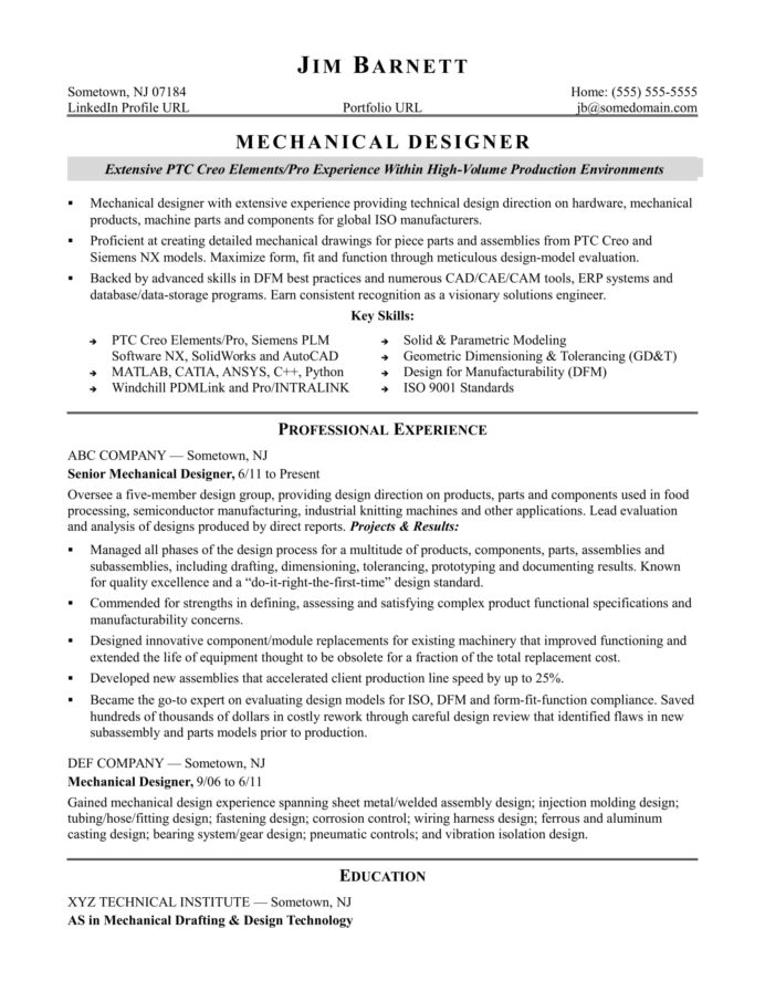 sample resume for an experienced mechanical designer monster experience format two year Resume Experience Resume Format Two Year Experience
