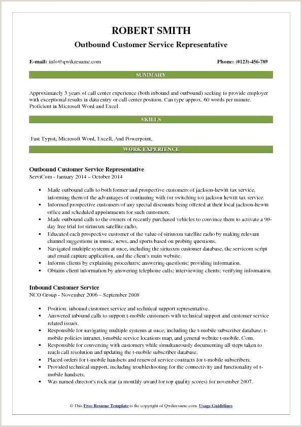 sample resume for customer service representative call center project manager examples Resume Inbound Customer Service Representative Resume