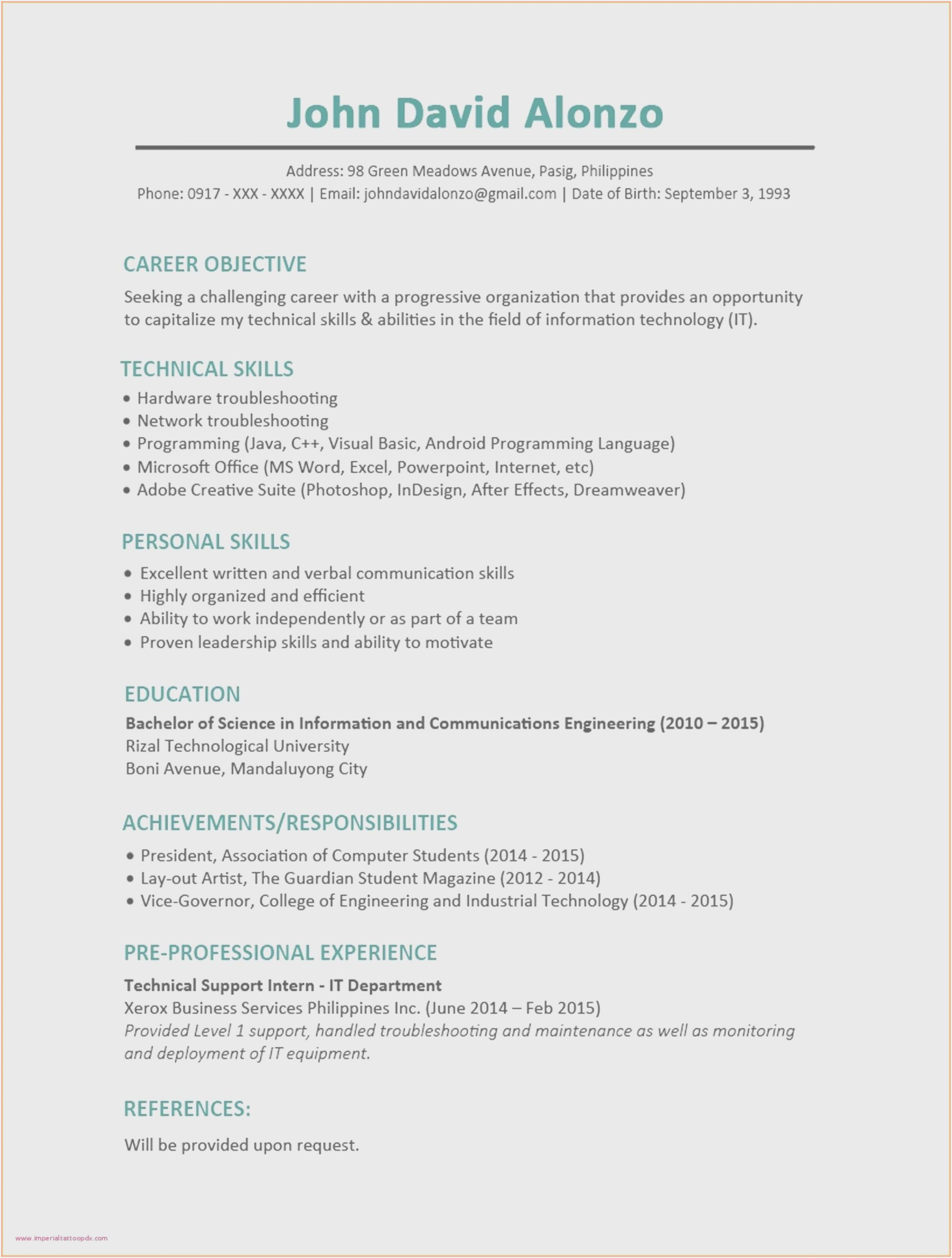sample resume for electrical engineer fresh graduate computer in scaled hvac technician Resume Sample Resume For Computer Engineer Fresh Graduate