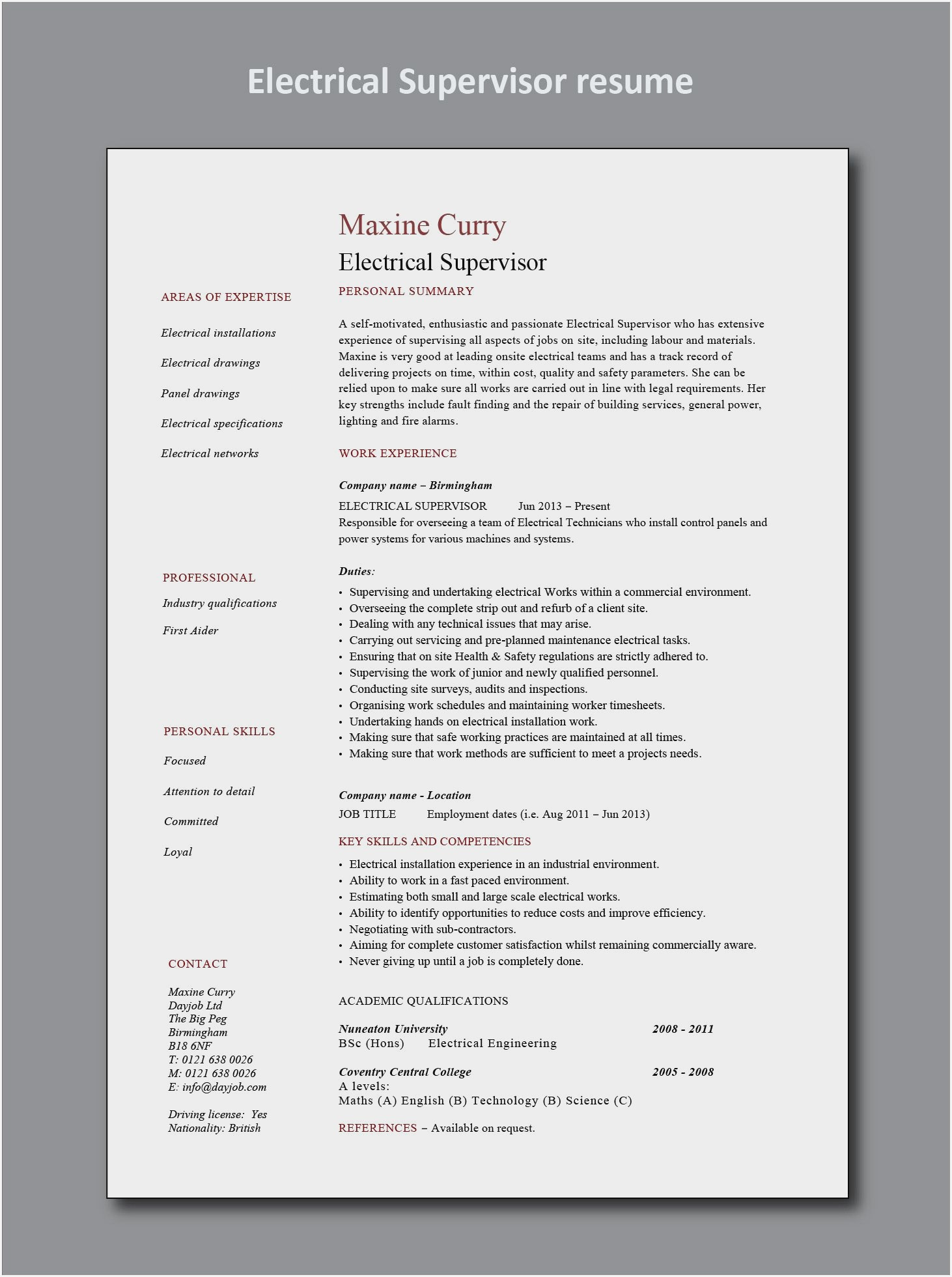 sample resume for electrical maintenance technician pdf examples intern responsibilities Resume Resume Examples For Maintenance Technician