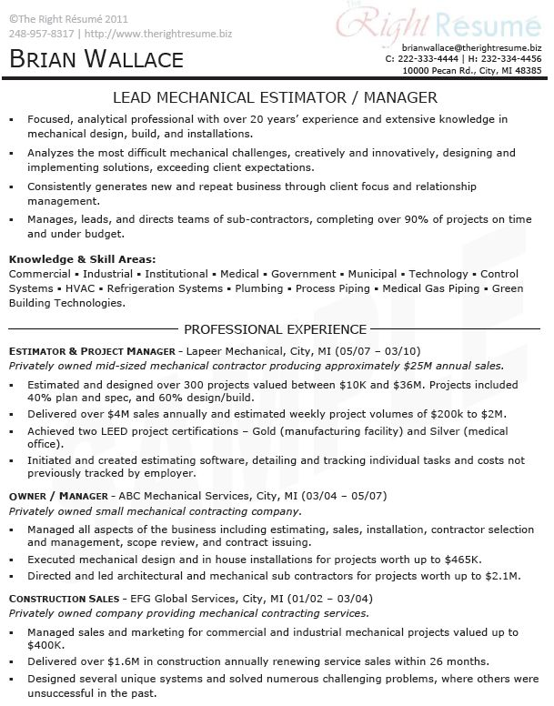 sample resume for project management samplesg example manager intended estimator creative Resume Estimator Project Manager Resume