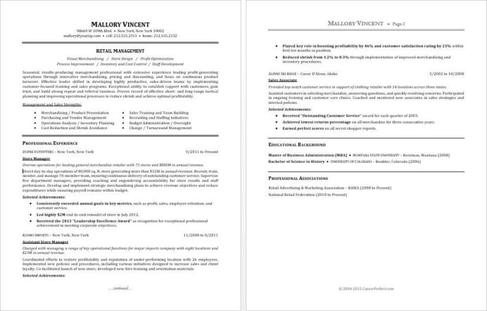 sample resume for retail manager monster profile examples format new graduates summary of Resume Resume Profile Examples For Retail