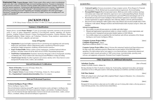 sample resume for worker with an employment gap dummies summary unemployed image0 quick Resume Resume Summary For Unemployed