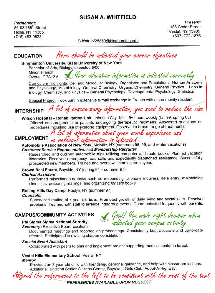 sample resume of microbiologist jeff the career coach mistakes medical representative Resume Jeff The Career Coach Resume Mistakes
