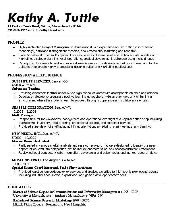 sample resume student template objective examples universal duties and responsibilities Resume Universal Resume Template