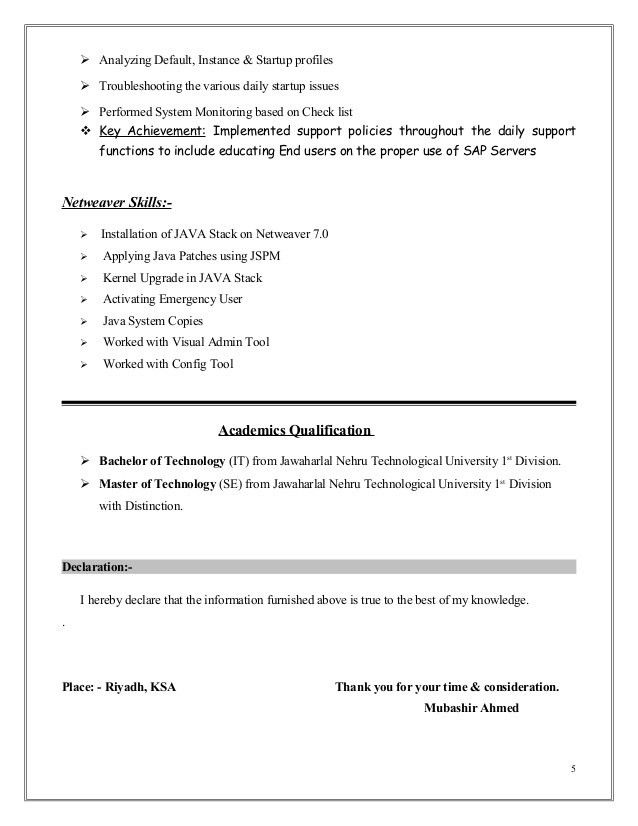 sap basis administration sample resume build child care emergency room technician thesis Resume Sap Basis Administrator Resume Sample