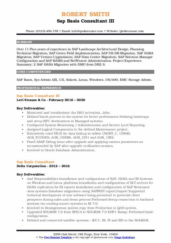 sap basis consultant resume samples qwikresume for years experience pdf architecture firm Resume Sap Basis Resume For 3 Years Experience