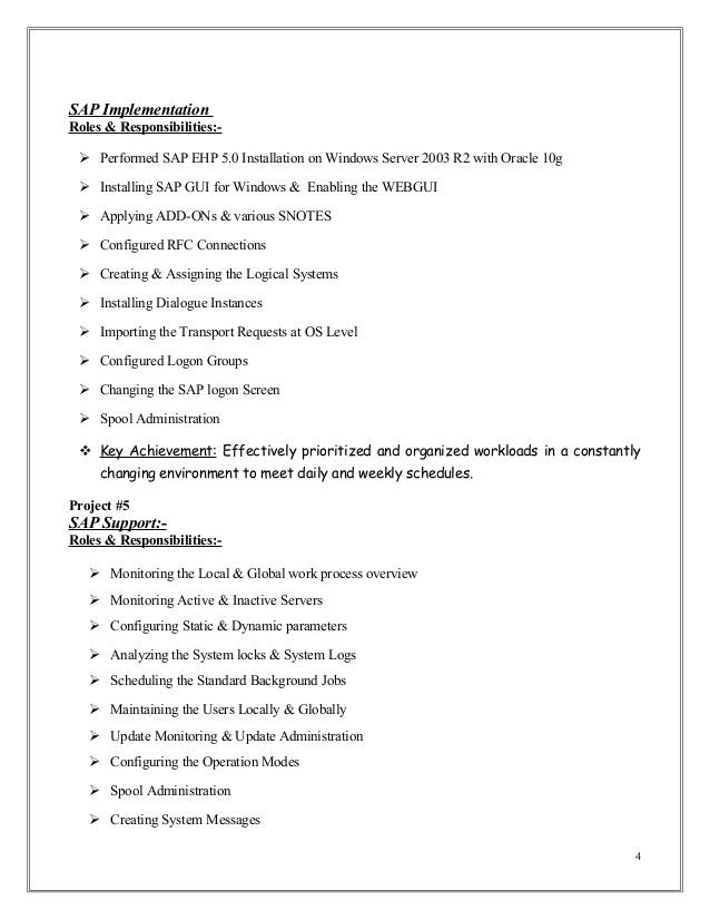 sap erp implementation resume mubashir ahmed basis consultant with yr exp making for the Resume Sap Implementation Resume