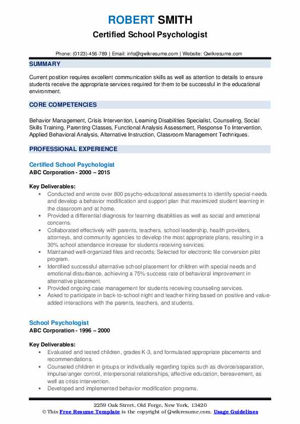 school psychologist resume samples qwikresume objective pdf accounts receivable examples Resume School Psychologist Resume Objective