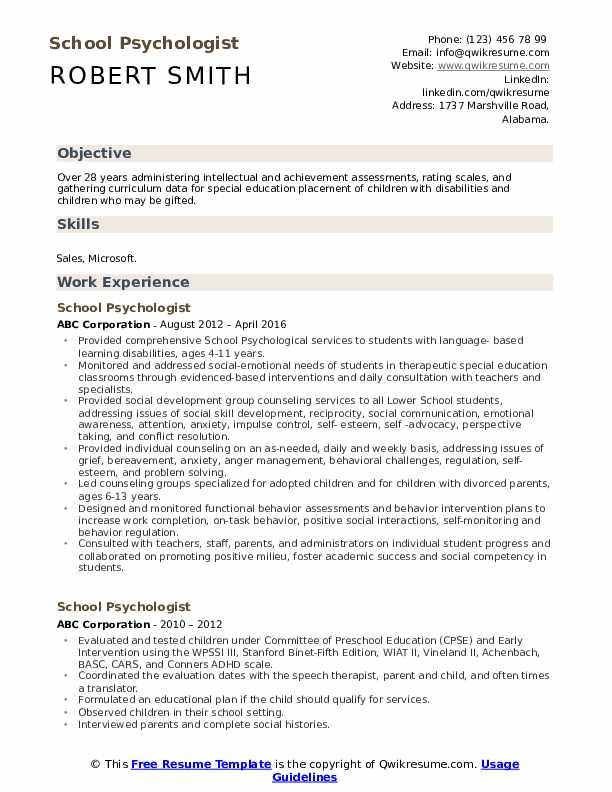 school psychologist resume samples qwikresume objective pdf executive packages accounts Resume School Psychologist Resume Objective