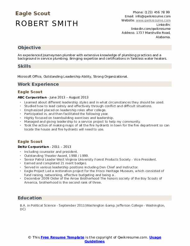 scout resume samples qwikresume template pdf marine engineer help cost skills and Resume Eagle Scout Resume Template