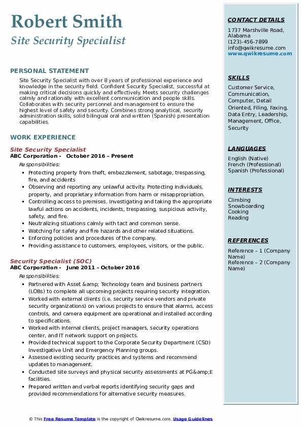 security specialist resume samples qwikresume industrial pdf attractive professional Resume Industrial Security Specialist Resume