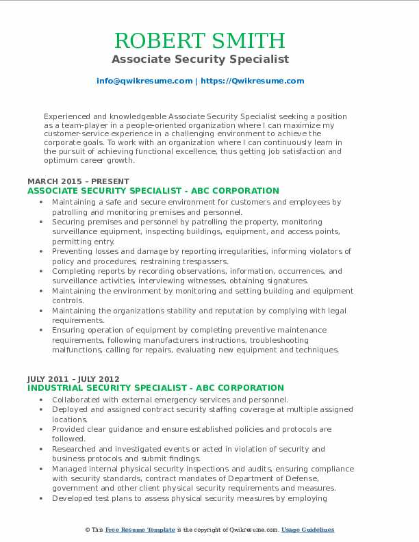 security specialist resume samples qwikresume industrial pdf front office assistant Resume Industrial Security Specialist Resume