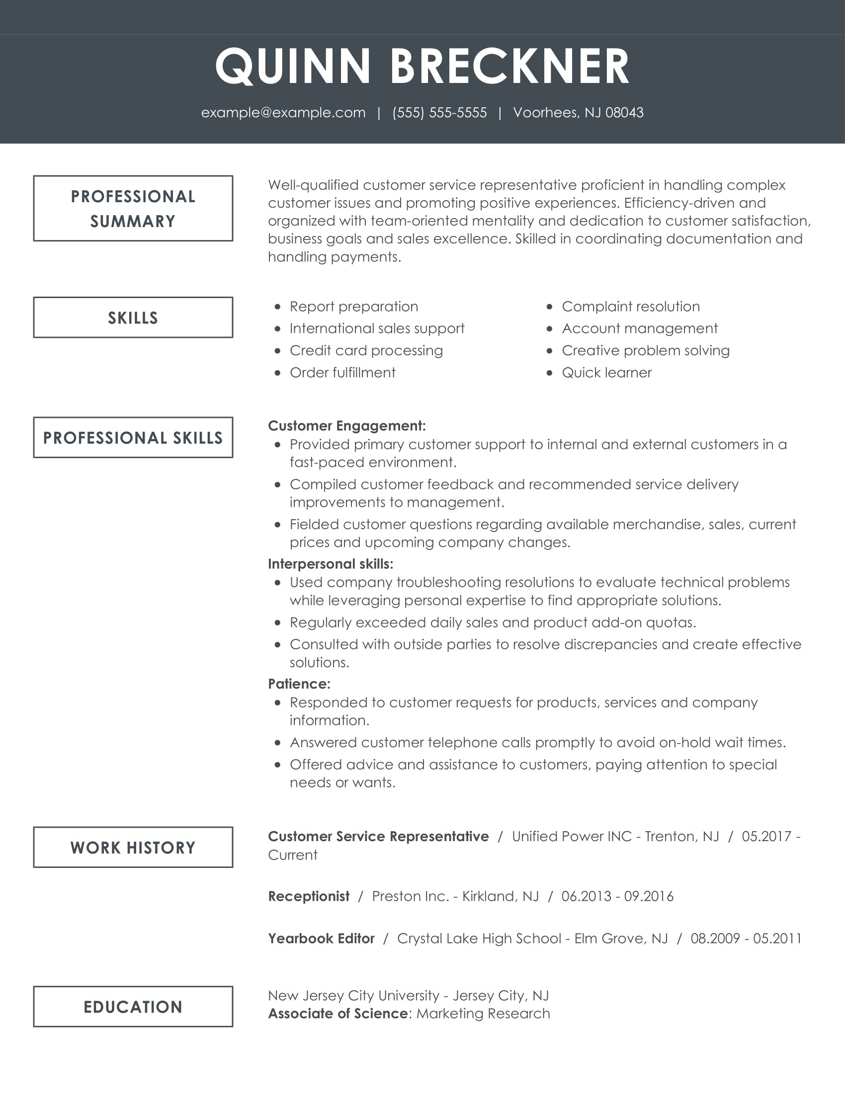 see our top customer service resume example for representative functional remarkable Resume Resume For Customer Representative