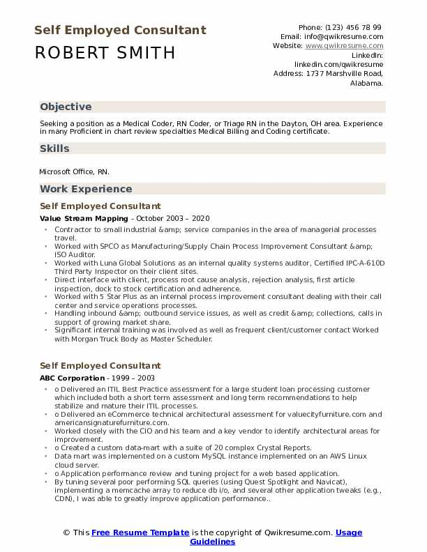 self employed consultant resume samples qwikresume examples pdf skills for medical Resume Self Employed Resume Examples