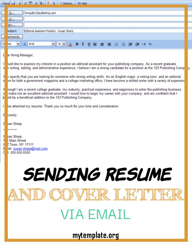 sending resume and cover letter via email free templates of easy steps for emailing pin Resume Sending Resume Via Email