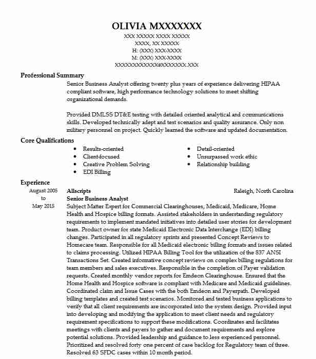 senior business analyst resume example cognizant technology solutions redmond simple for Resume Senior Business Analyst Resume Example