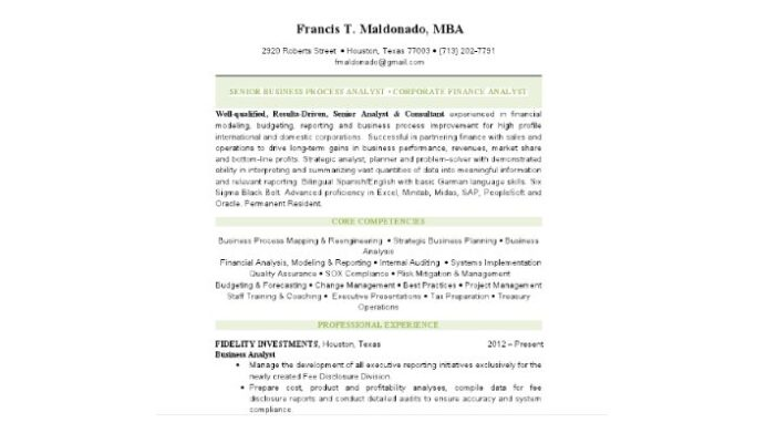 senior business analyst resumes by designresumes design fidelity investments resume Resume Fidelity Investments Resume