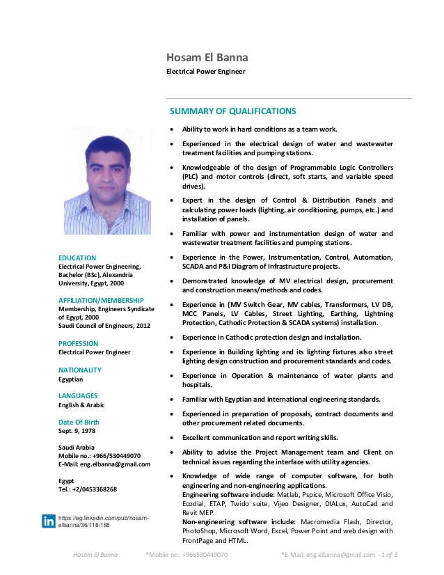 senior electrical engineer cv resume best font size for even contractor assistant Resume Senior Electrical Engineer Resume