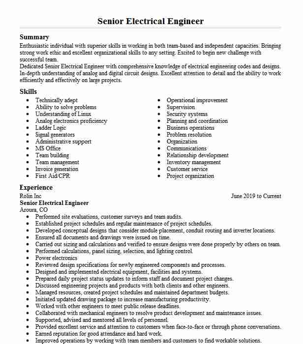 senior electrical engineer resume example testing solutions automotive finance manager Resume Senior Electrical Engineer Resume