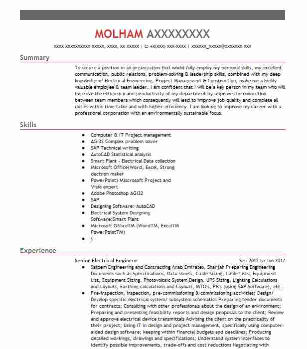 senior electrical engineer resume example testing solutions scholarship objective Resume Senior Electrical Engineer Resume