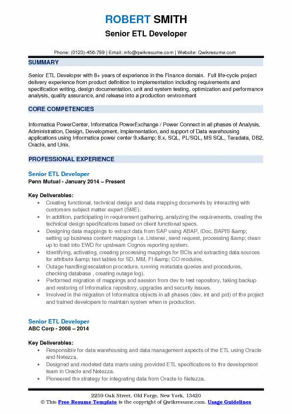 senior etl developer resume samples qwikresume informatica for years experience pdf draft Resume Informatica Developer Resume For 5 Years Experience