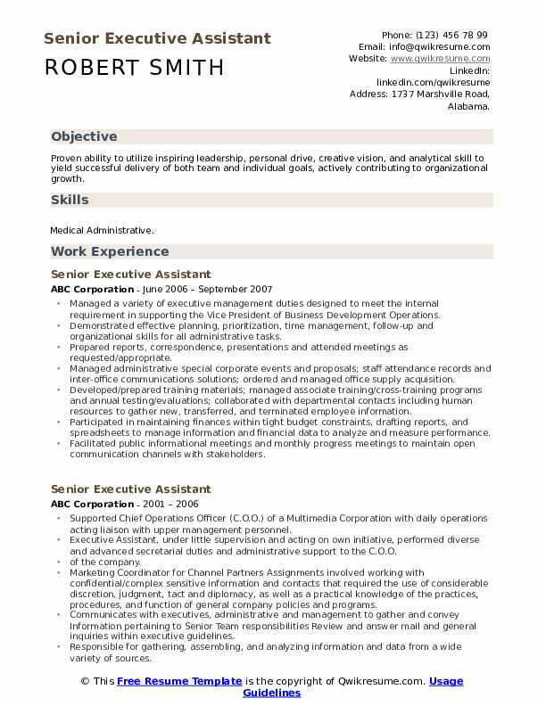 senior executive assistant resume samples qwikresume best format for pdf hardware and Resume Best Resume Format For Executive Assistant