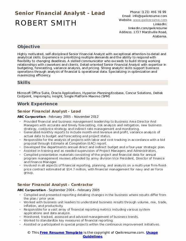 senior financial analyst resume samples qwikresume pdf writing services ratings dietetic Resume Financial Analyst Resume