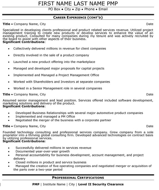 senior manager resume sample template examples for management positions mg executive p2 Resume Resume Examples For Management Positions