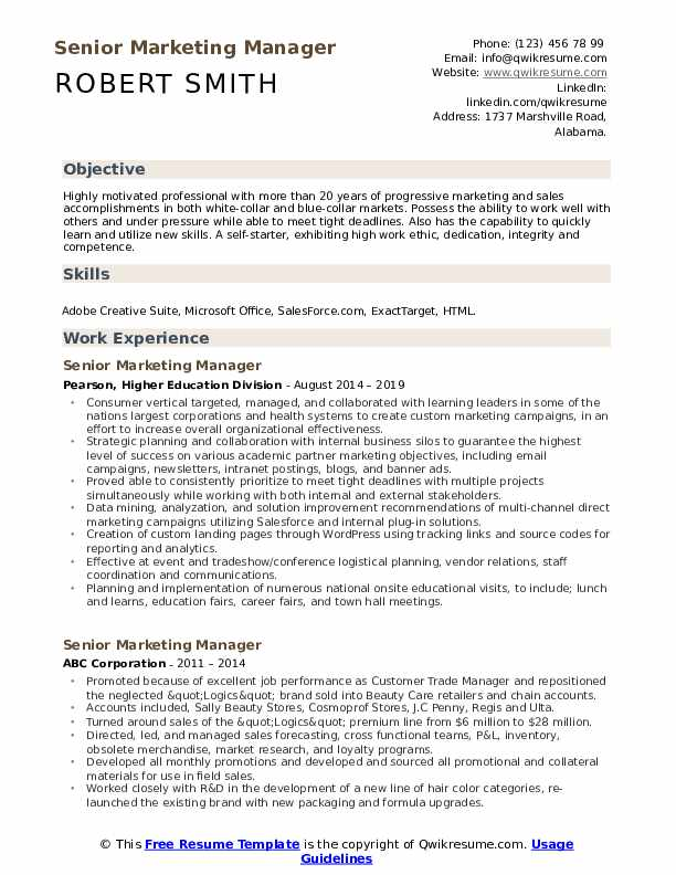 senior marketing manager resume samples qwikresume trade executive pdf uconn help Resume Trade Marketing Executive Resume