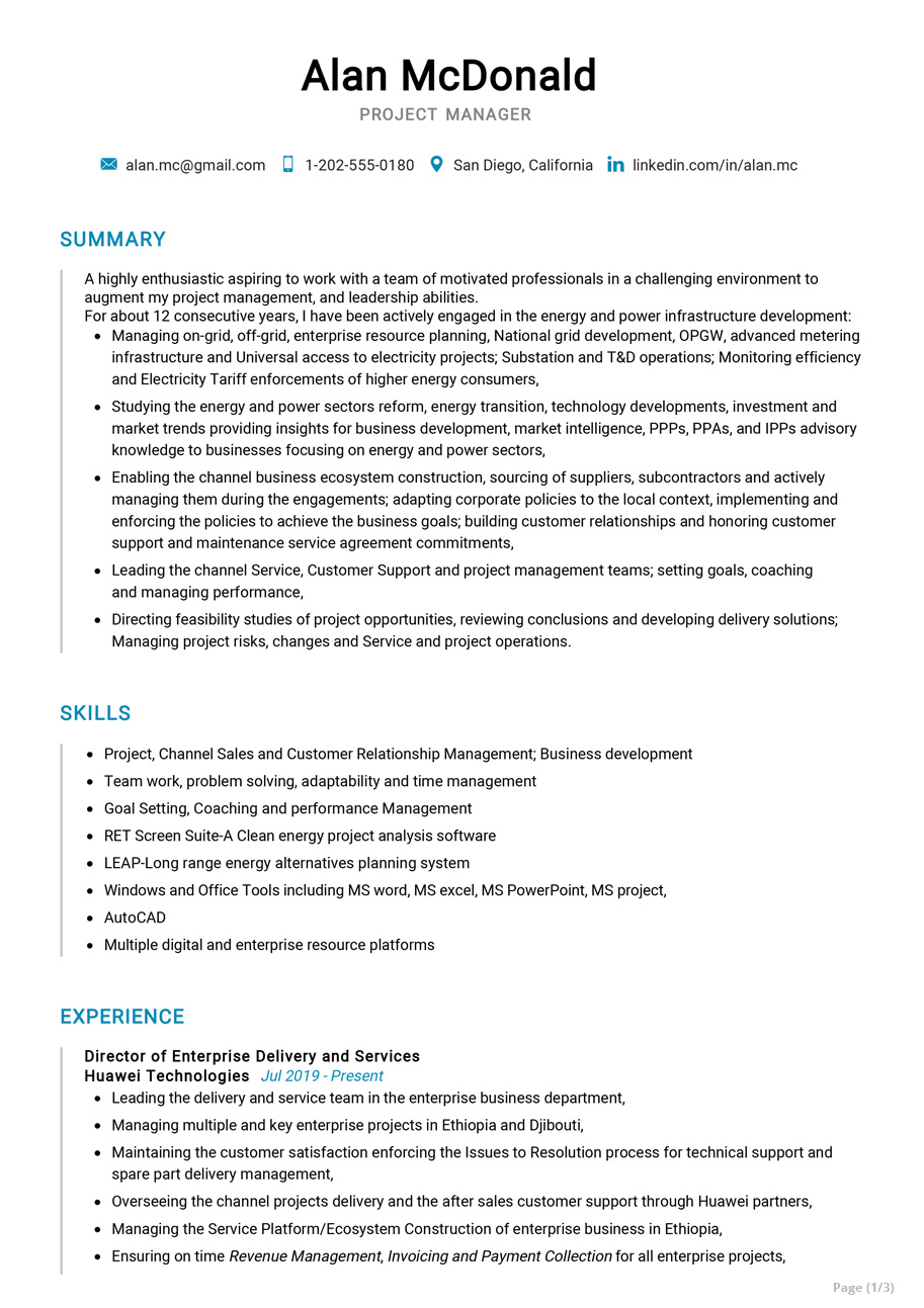 senior project manager resume sample cv resumekraft description for restaurant general Resume Project Manager Description For Resume