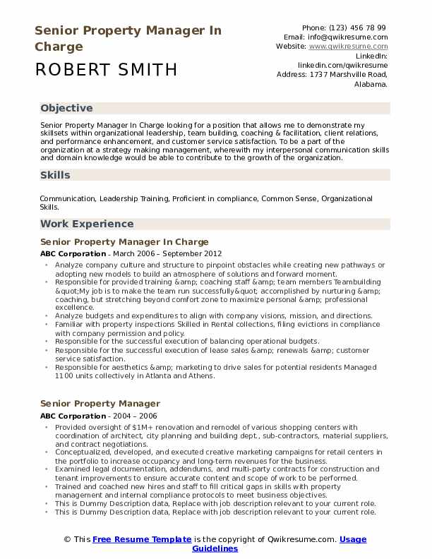 senior property manager resume samples qwikresume pdf instructional designer sample Resume Property Manager Resume