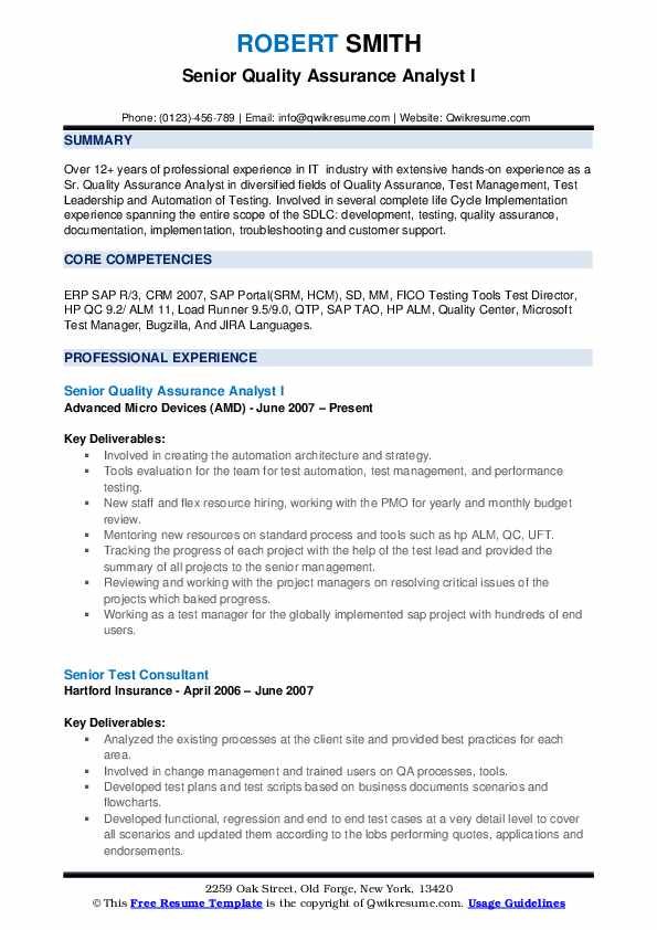 senior quality assurance analyst resume samples qwikresume sample pdf for interview call Resume Quality Assurance Analyst Resume Sample