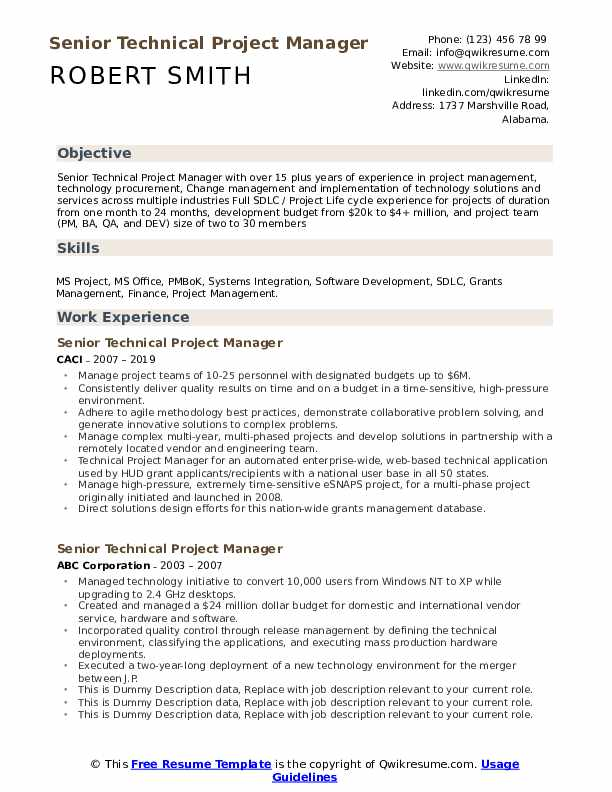 senior technical project manager resume samples qwikresume pdf army peer review medical Resume Technical Project Manager Resume