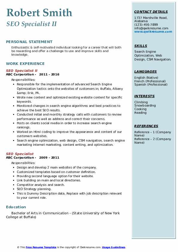seo specialist resume samples qwikresume search optimization pdf global sourcing business Resume Resume Search Optimization