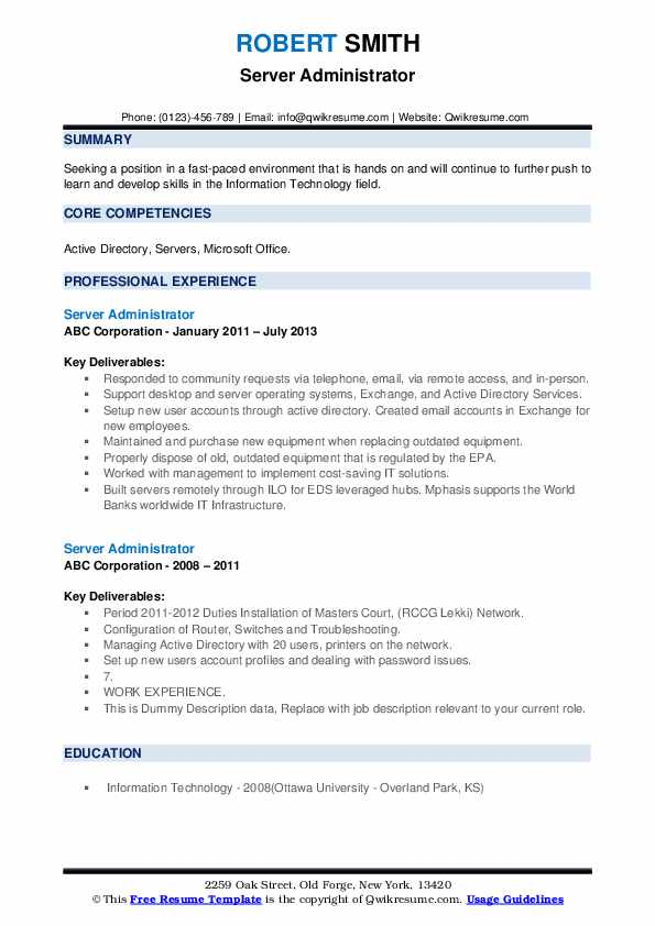 server administrator resume samples qwikresume examples pdf costing manager best high Resume Server Administrator Resume Examples