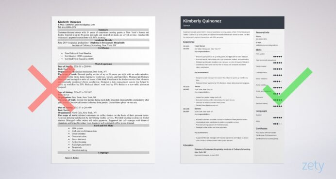server resume examples guide tips sample responsibilities example best for data scientist Resume Sample Server Resume Responsibilities