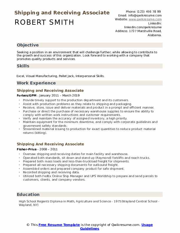shipping and receiving associate resume samples qwikresume pdf medical clerical listing Resume Shipping And Receiving Associate Resume
