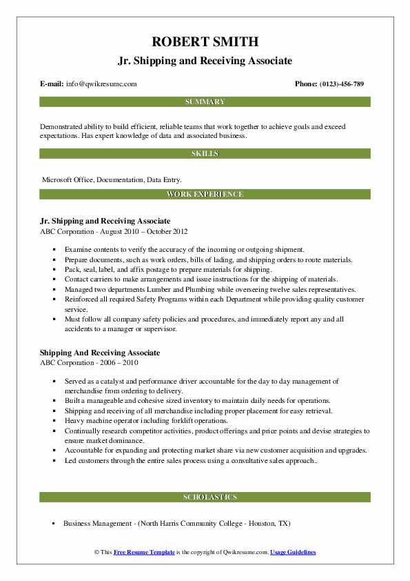 shipping and receiving associate resume samples qwikresume pdf technical product manager Resume Shipping And Receiving Associate Resume