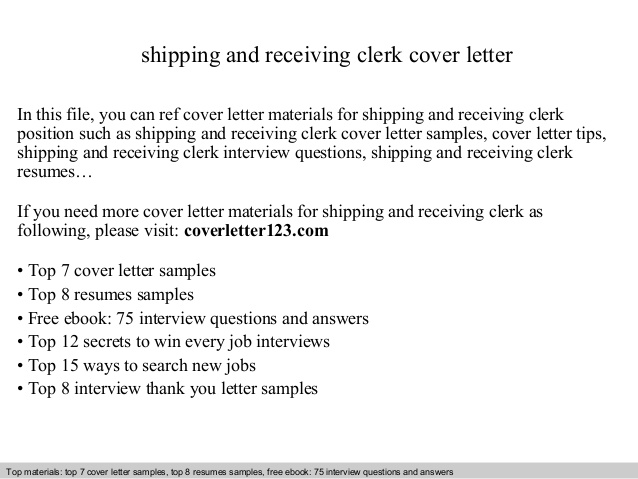 shipping and receiving clerk cover letter resume retail job cabinet maker example sample Resume Shipping And Receiving Clerk Resume