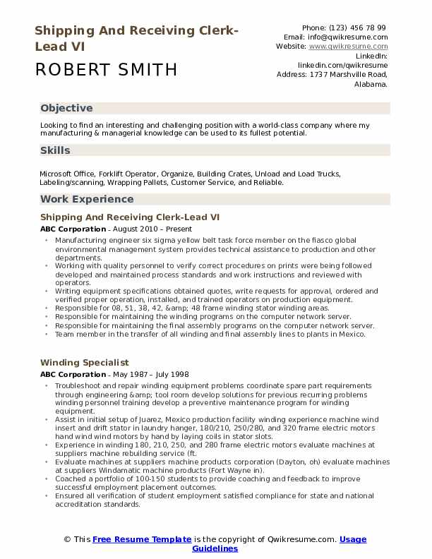 shipping and receiving clerk resume samples qwikresume associate pdf ts technical product Resume Shipping And Receiving Associate Resume