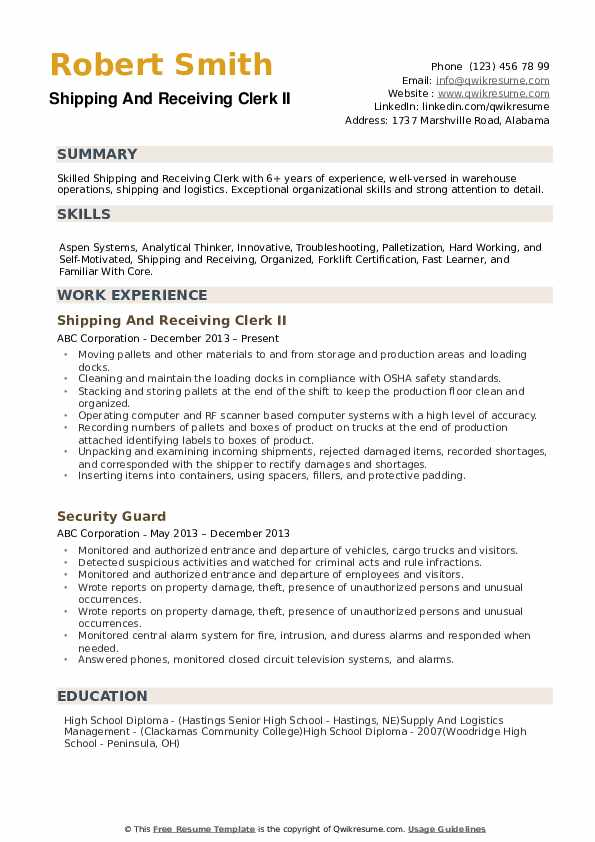 shipping and receiving clerk resume samples qwikresume pdf interview workshop broadcast Resume Shipping And Receiving Clerk Resume
