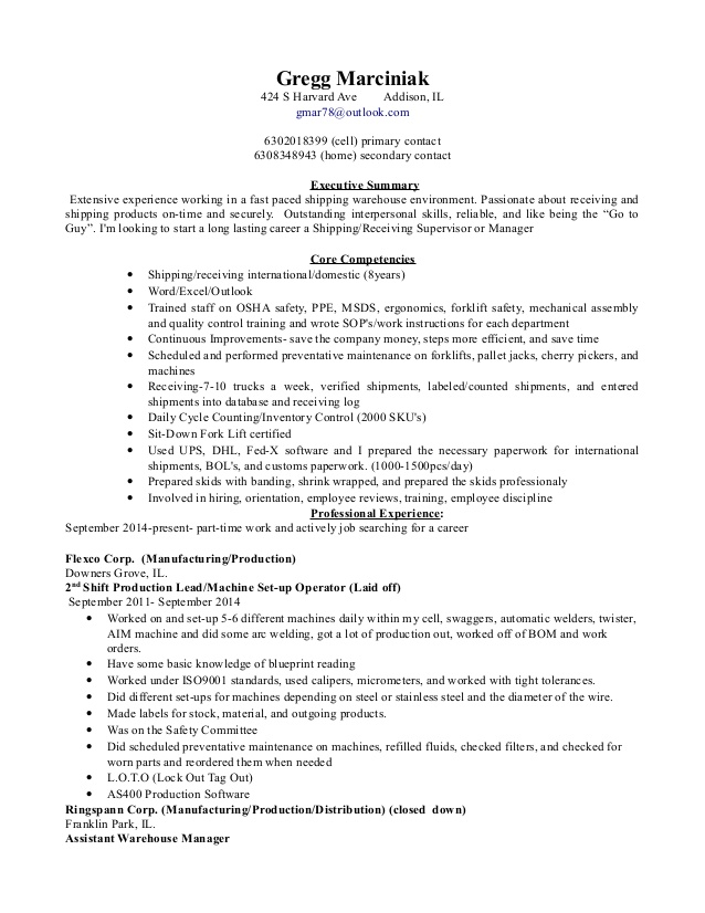shipping and receiving manager resume clerk duties for personal assistant staff Resume Receiving Clerk Duties For A Resume