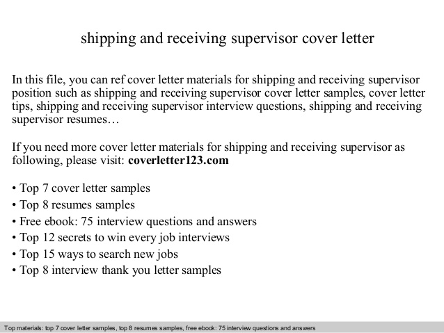 shipping and receiving supervisor cover letter manager resume sample format for Resume Shipping And Receiving Manager Resume Sample