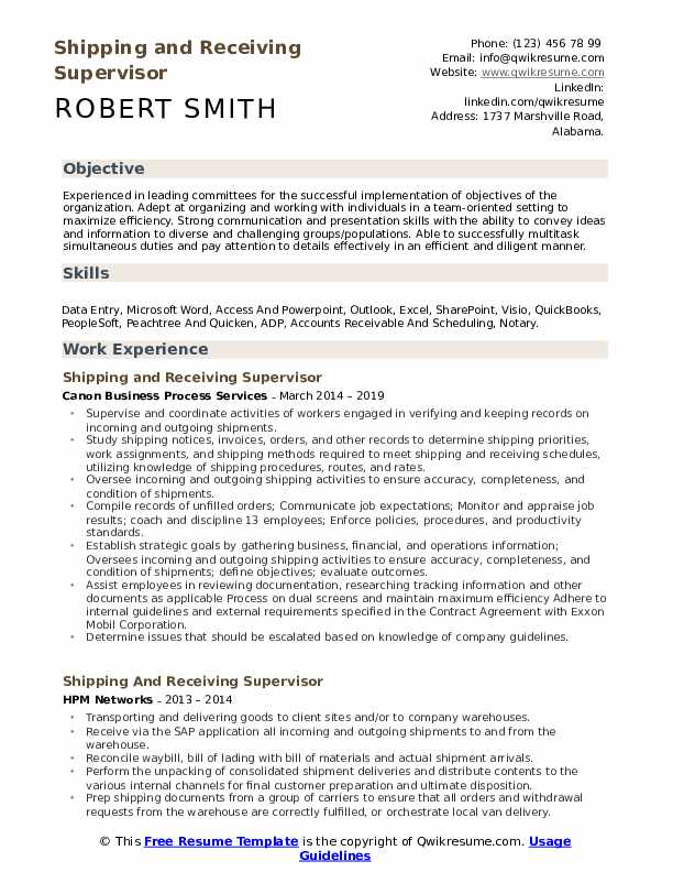 shipping and receiving supervisor resume samples qwikresume manager sample pdf after Resume Shipping And Receiving Manager Resume Sample