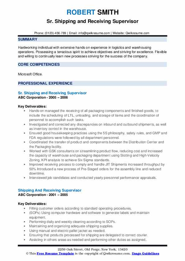 shipping and receiving supervisor resume samples qwikresume manager sample pdf format for Resume Shipping And Receiving Manager Resume Sample